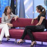 Patricia Gaztañaga y Sandra Daviú en un programa especial de 'El diario'