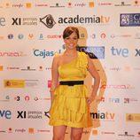 La periodista Cristina Villanueva en los Premios ATV