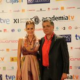 Sandra Ibarra y Juan Ramón Lucas juntos en los Premios de la Academia TV