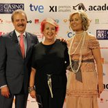 Manuel Campo Vidal, Rosa María Calaf y María Rey