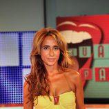 María Patiño en el plató de 'Vaya par... de tres'