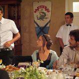 Aitor, Sara y Lucas en el convite
