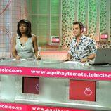Víctor Sandoval y Francine Gálvez en 'Aquí hay tomate'