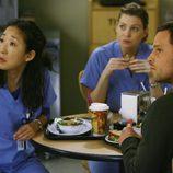 Alex Karev, Meredith Grey y Cristina Yang en 'Ahora o nunca'