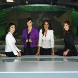 Helena Resano, Cristina Saavedra, Mamen Mendizabal y Cristina Villanueva