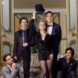 El reparto de 'The Big Bang Theory' de traje
