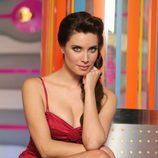 Pilar Rubio, con vestido rojo corto, posa en la promoción de 'Sé lo que hicisteis...'