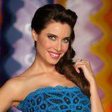 Pilar Rubio, con vestido de encaje azul, reportera de 'Sé lo que hicisteis...'