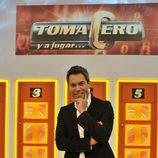 El concurso 'Toma cero y a jugar' de Telecinco con su presentador Daniel Domenjó