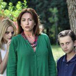 Carolina Bona, Sonia Castelo y Cameron Antrobus