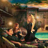 Katie Cassidy, Colin Egglesfield y Ashlee Simpson en una promo