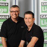 Michael Robinson y Carlos Martínez son comentaristas de Canal+