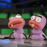 Las hormigas Trancas y Barrancas en el plató de 'El Hormiguero'
