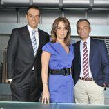 Carme Chaparro, J.M. Pascual y Luis Obiols