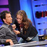 Olivia Wilde y Pablo Motos en 'El hormiguero'