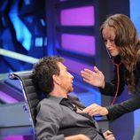Olivia Wilde y Pablo Motos en el programa