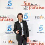 Juan Alfonso Baptista posa en la première de 'Sin tetas no hay paraíso'