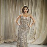 Eva Longoria posa con un vestido de lentejuelas