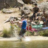 Los chicos de 'FoQ' en el pantano