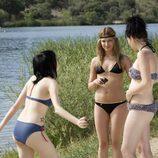 Paula, Yoli y Ruth en bikini