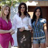 Karmele Aranburu, Cristina Peña y Paula Prendes