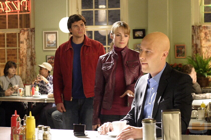 Clark Kent (Tom Welling) , Lois Lane (Erica Durance) y Lex Luthor (Michael Rosenbaum)
