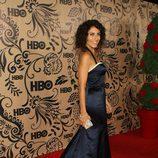 Lisa Edelstein posa en la fiesta de HBO tras los Emmy 2009