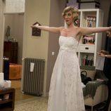 Blanca se prueba el traje de novia