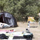 Paula y Julio en el camping