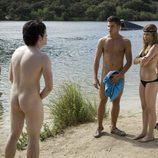 Cabano y Gorka discuten desnudos