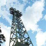 Torre de iluminación del campo de fútbol