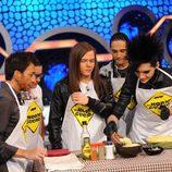 Tokio Hotel cocinando en el programa