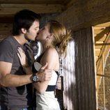 Jessica y Pablo Santana se besan