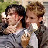 Oliver Queen (Justin Hartley) y Clark Kent (Tom Welling)