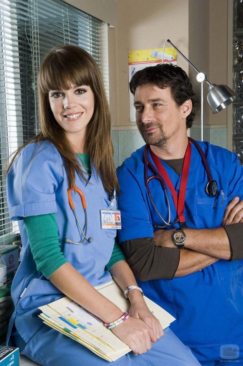 Roberto Drago y Bárbara Muñoz en 'Hospital Central'