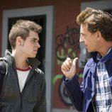 David y su padre discuten