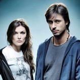Marta Nieto y Hugo Silva posan en una fotografía promocional de 'Karabudjan'