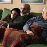 Ana Arias, Paco Sagarzazu y Juan Echanove en 'Cuéntame cómo pasó'