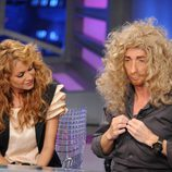 Paulina Rubio y Pablo Motos con pelucas