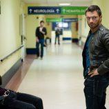 Julián Gil y Michel Gurfi en el hospital