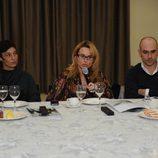 Marta Ruíz (directora La búsqueda), Txelo Montesinos (directora Cuarzo) y Fernando Jerez (director de antena de Cuatro)