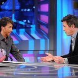 Hugh Grant con Pablo Motos
