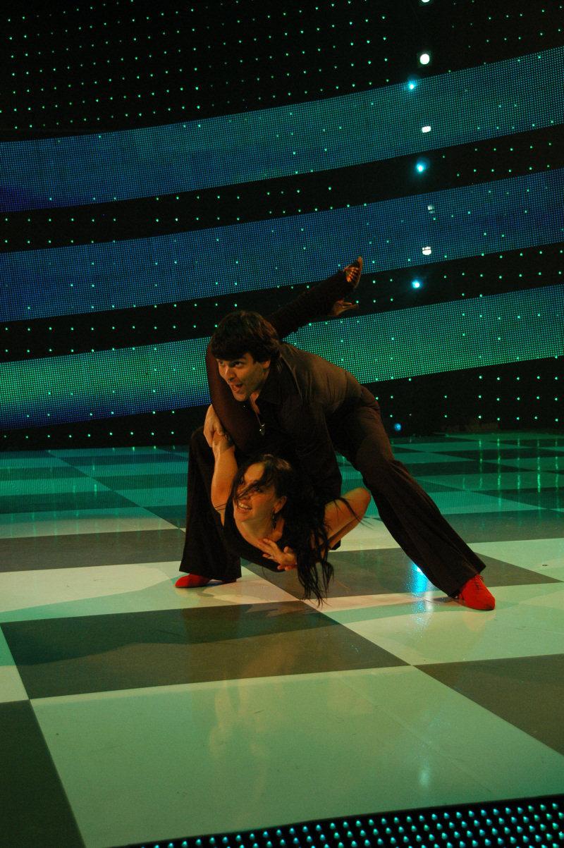 Abraham y Amagoya ensayan en el Festival de Baile de Eurovisión