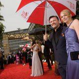El cómico Ricky Gervais en los Globos de Oro 2010