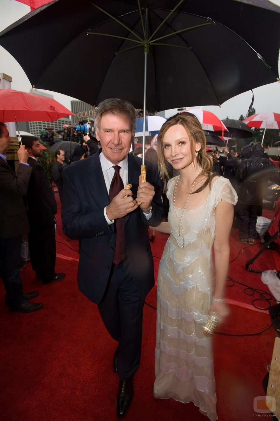 Calista Flockhart y Harrison Ford