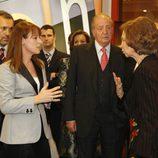 Gloria Lomana charla con Doña Sofía