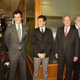 Jaime Cantizano y Jorge Fernández con los Reyes de España