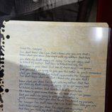 Carta manuscrita de Sawyer