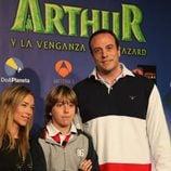 Fran Murcia y su hijo en la première