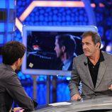 Mel Gibson junto a Pablo Motos